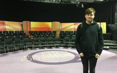 Student does the big question for BBC 1
