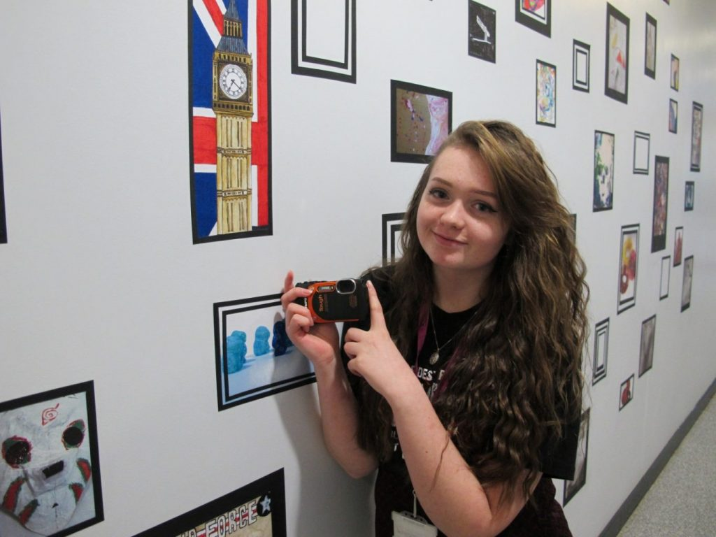 East Durham College A-level student Megan Ogden, with her prize