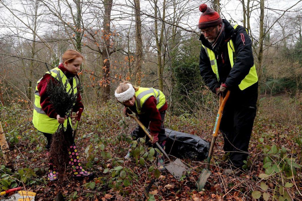 Volunteers at Castle Eden Dene