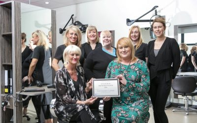 College hairdressing team receive Special Industry award
