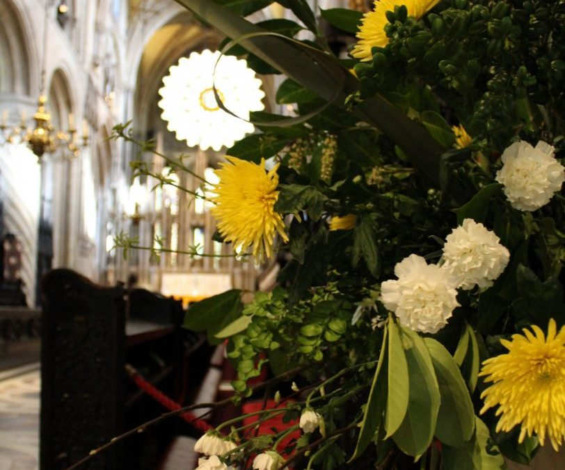 Posies placed at Durham Cathedral for national campaign