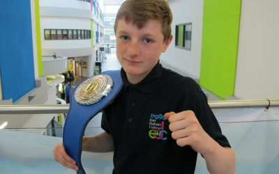 College student brings home national junior kickboxing title