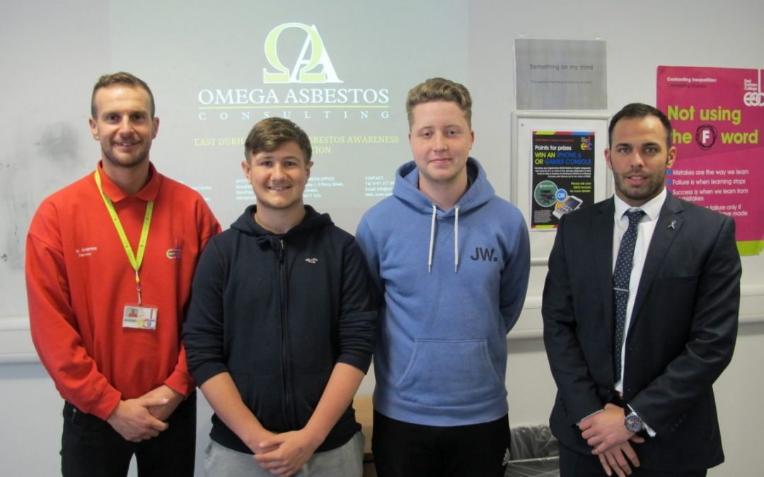 Asbestos experts deliver important health and safety training to college students