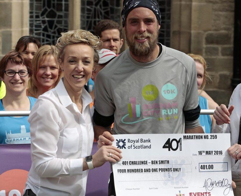 Durham City Run and Prince Bishops give marathon man a birthday surprise