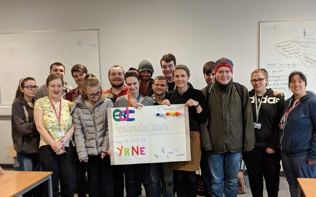 College students raise over £200 for Youth Homeless North East
