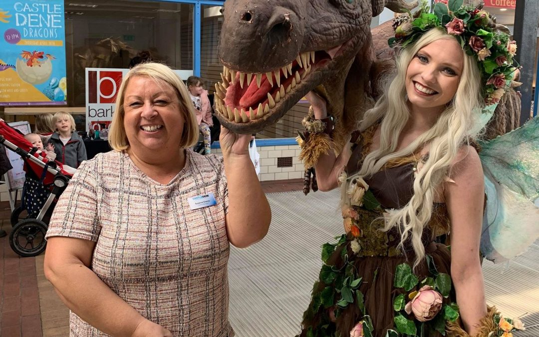 Giant dragon lures crowds to Peterlee shopping centre