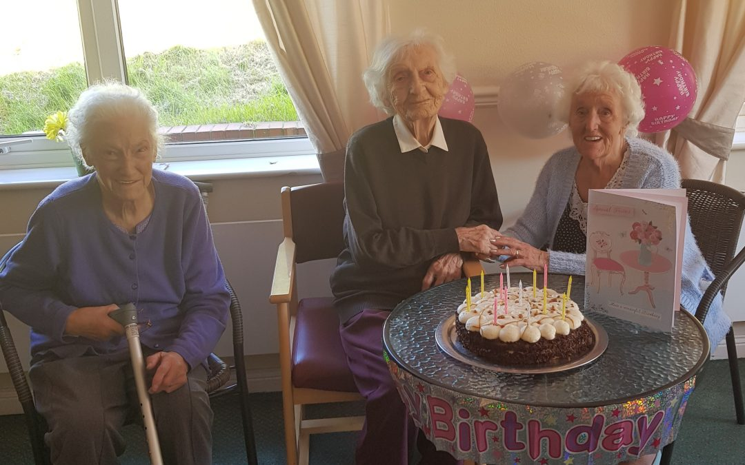 Centenarian celebrates her 102nd birthday with surprise party at Peterlee care home