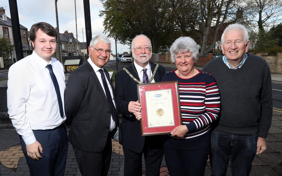 Ferryhill's Valerie Watson given top award for her work within the community
