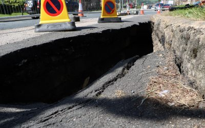 Seaton Lane reopens after discovery of a sinkhole