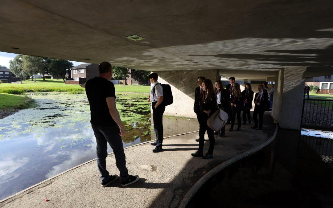 School children visit Apollo Pavilion for art project inspiration