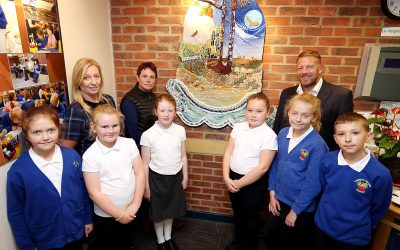 Easington Colliery pupils design mocaic inspired by the coastal denes