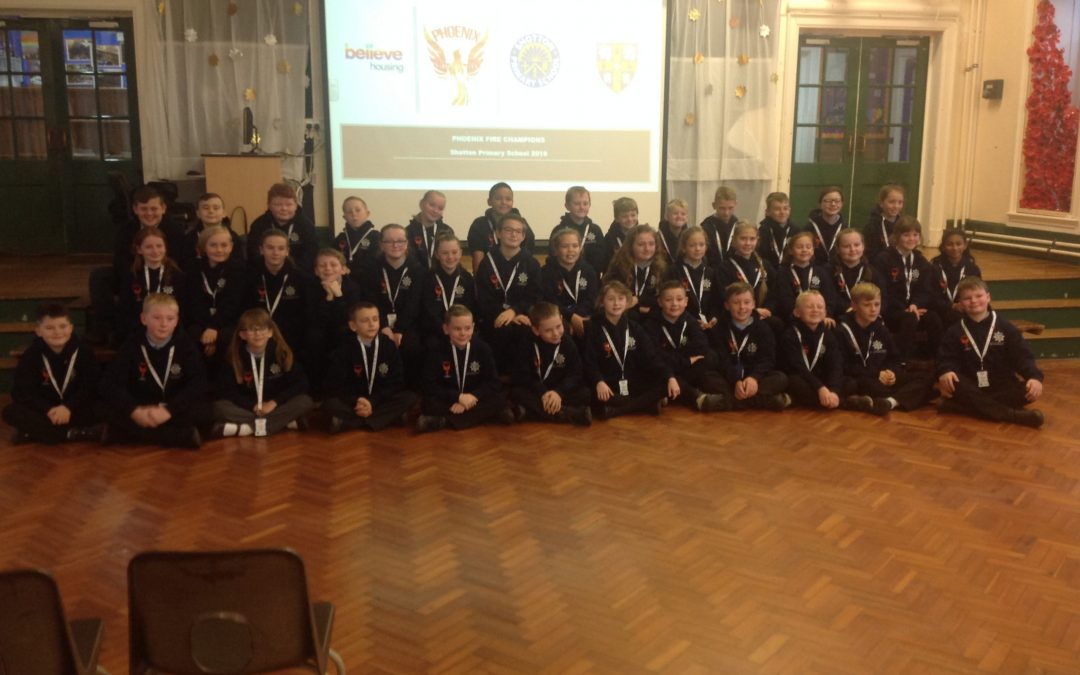 Pupils at Shotton Primary School learn about the dangers of starting fires