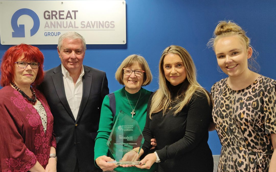 Seaham company GAS recognised for contribution to local charities