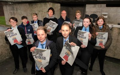 Peterlee students pay tribute to iconic Apollo Pavilion sculpture