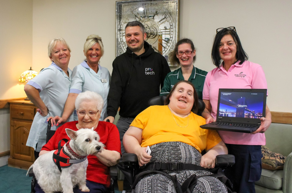 Peterlee care home resident gets tech savvy thanks to laptop donation from Protech