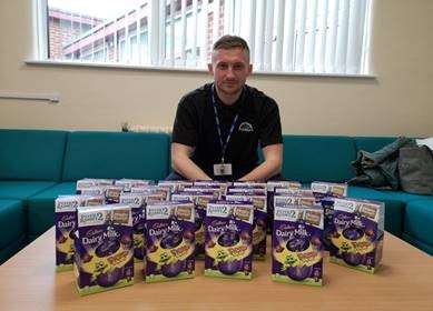 Peterlee shopping centre and police donate hundreds of Easter eggs to the community