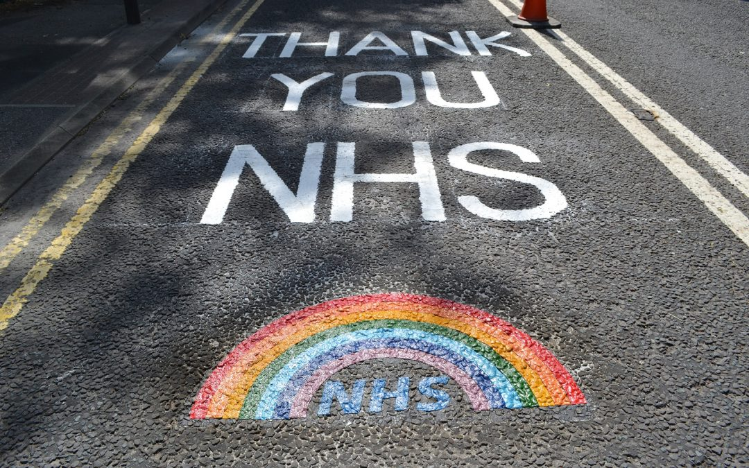 Tributes to NHS workers as council paints rainbows on roads across East Durham
