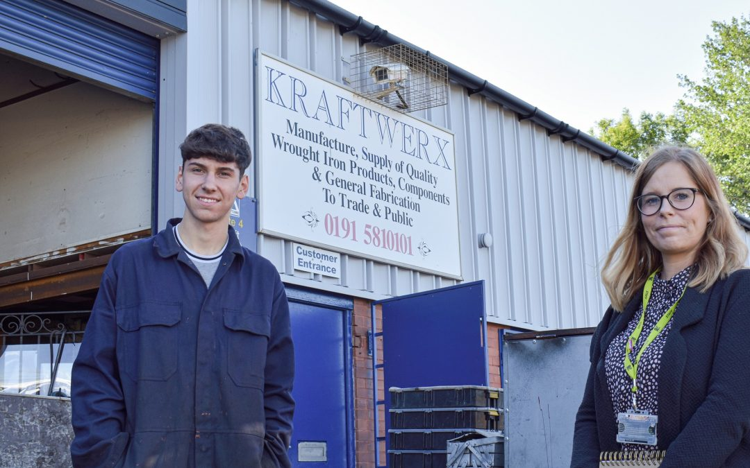 Industrial placement leads to employment for East Durham College student
