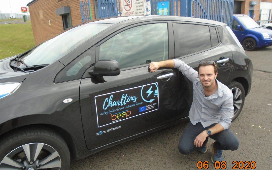 BEEP BEEP as Peterlee takeaway invests in electric vehicle with help of energy scheme
