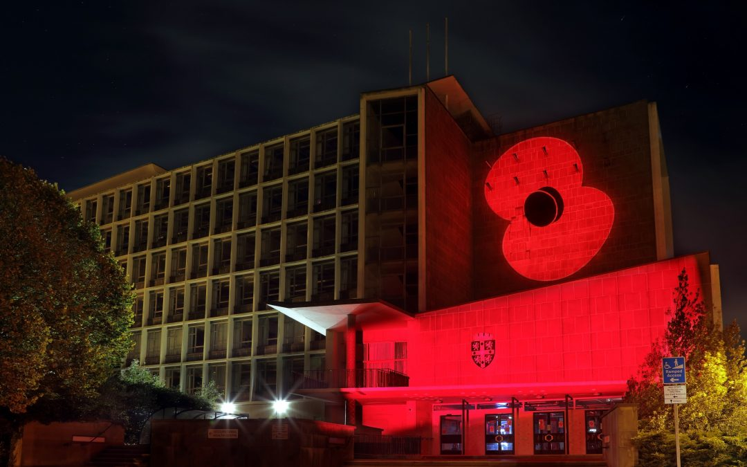 Seaham landmark among six being lit up red to commemorate Remembrance Day