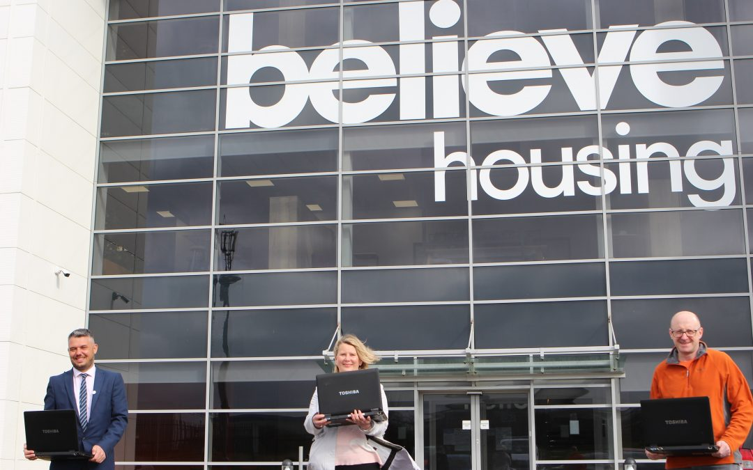 Believe Housing and Protech join forces to donate 60 laptops to schools across County Durham