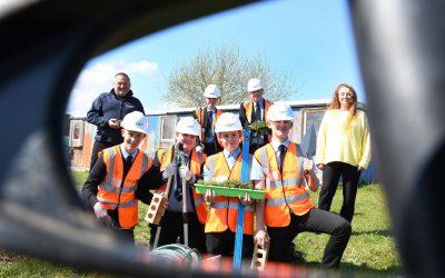 Peterlee school students constructing skills thanks to donation of 2,000 bricks