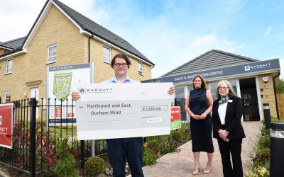 Housebuilder supports Hartlepool and East Durham Mind with £1,000 donation