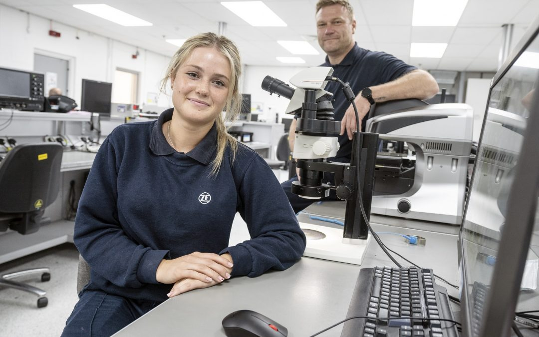 Peterlee company ZF announces new female recruit on International Women in Engineering Day