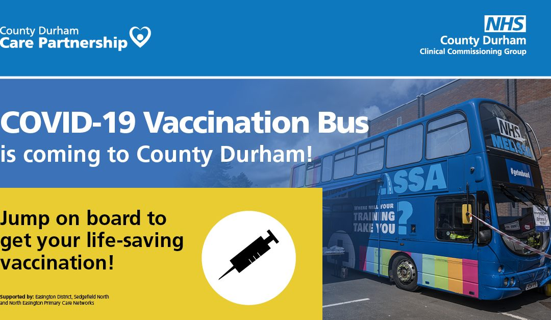 NHS vaccine bus returns to deliver first COVID vaccines to East Durham residents