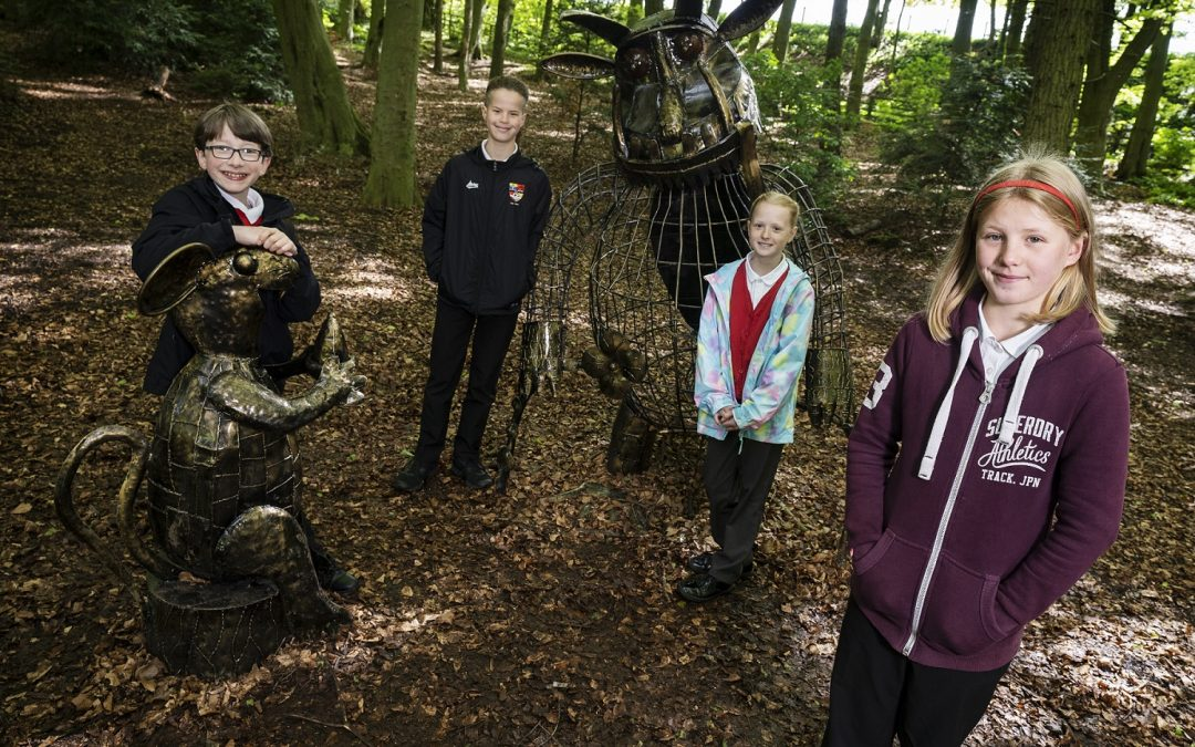 Sculptures inspired by popular characters installed at Hardwick Park