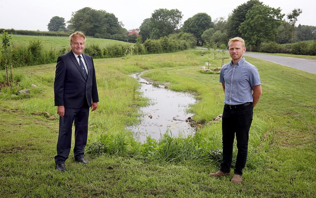 Flood prevention scheme protects village entry route
