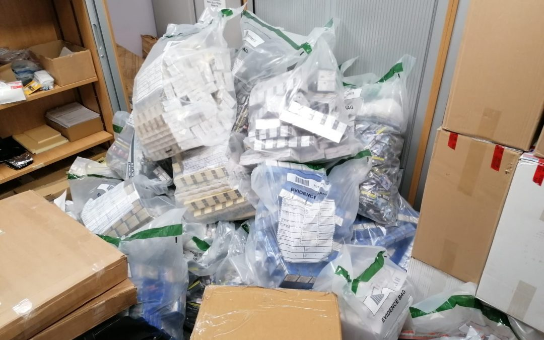 Illicit cigarettes and tobacco seized from properties in Blackhall